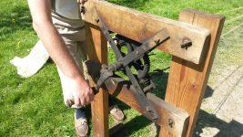 Seilschlagmaschine wird gedreht