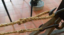 gespleistes Seil im Museum
